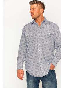Rough Stock by Panhandle Men's Kelsey Antique Print Long Sleeve Snap Shirt, , hi-res