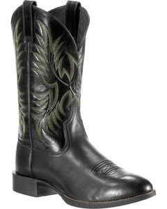 Ariat Men's Stockman Cowboy Boots - Round Toe, , hi-res
