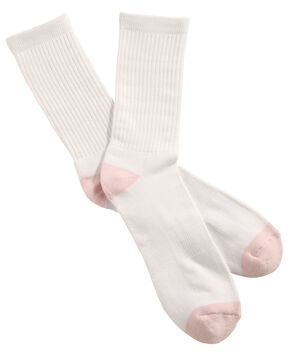 Shyanne Women's Crew Socks - 3 Pack, White, hi-res