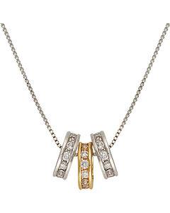 Montana Silversmiths Two-Tone Triple Shine Necklace, , hi-res