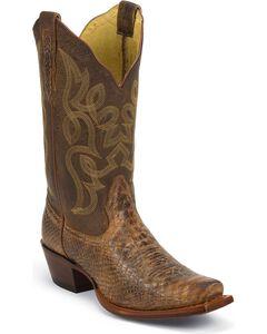 Nocona Snake Print Cowgirl Boots - Snip Toe, , hi-res