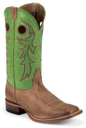 Nocona Legacy Cowboy Boots - Square Toe, Tan, hi-res