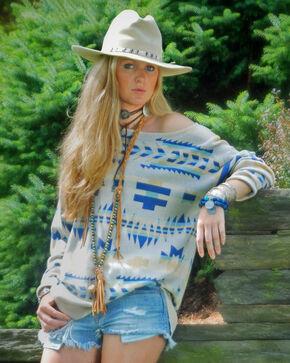 Tasha Polizzi Women's Big Horn Crew Sweater, Cream, hi-res