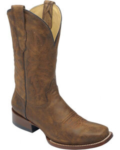 Corral Men's Brown Distressed Goat Leather Boots - Sq Toe , , hi-res