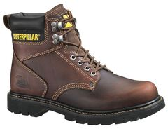 "Caterpillar 6"" Second Shift Lace-Up Work Boots - Round Toe, , hi-res"