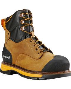 "Ariat Men's Aged Bark Catalyst VX Work 8"" H2O Boots - Composite Toe , , hi-res"