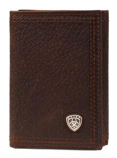 Ariat Logo Concho Tri-fold Wallet, , hi-res