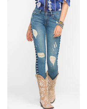 MM Vintage Distressed Sophie Skinny Jeans , Indigo, hi-res