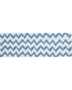 HiEnd Accents Catalina Chevron Print Super King Bed Runner, Multi, hi-res