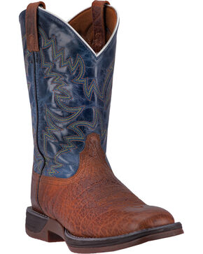 Laredo Men's Great Bend Two Toned Western Boots - Square Toe, Rust Copper, hi-res