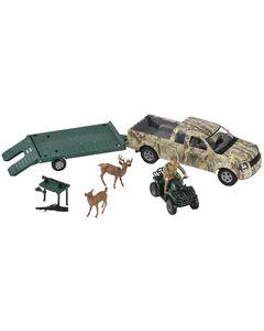 Bigtime Hunter Camo Truck with Trailer & Four Wheeler, , hi-res