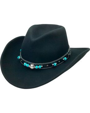 Silverado Women's Crushable Wool Bendable Brim Hat, Black, hi-res