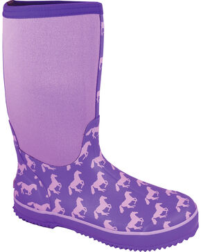 Smoky Mountain Women's Horse Amphibian Waterproof Boots, Purple, hi-res
