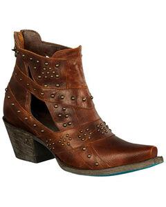 Lane Women's Brown Studs & Straps Fashion Boots - Snip Toe , , hi-res