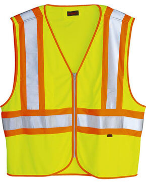 Wolverine Men's Yellow Mile Marker Vest , Yellow, hi-res