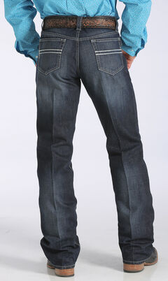 Cinch Men's Carter 2.2 Mid-Rise Relaxed Bootcut Jeans, Dark Stone, hi-res