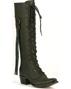 Junk Gypsy by Lane Black Trailblazer Lace-Up Boots - Snip Toe, , hi-res