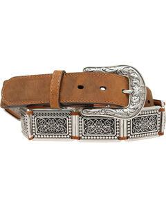 Blazin Roxx Silver Concho Links Belt, , hi-res