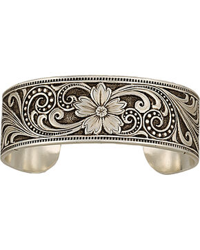 Montana Silversmiths Western Lace Whisper Garden Cuff Bracelet, Silver, hi-res
