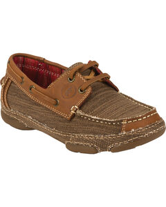 Tony Lama Women's Straw 3R Casuals Canvas & Leather Shoes, , hi-res