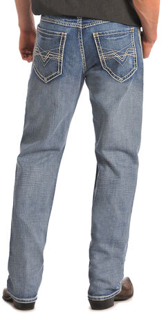 "Rock & Roll Cowboy Cannon Abstract ""V"" Pocket Jeans, , hi-res"
