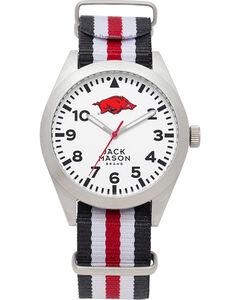 Jack Mason Men's Arkansas Striped Nato Strap Watch , , hi-res