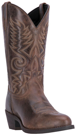 Laredo Men's Taupe Riley Western Boots - Round Toe , Taupe, hi-res