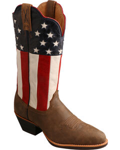 Twisted X American Flag Western Cowgirl Boots - Round Toe, , hi-res