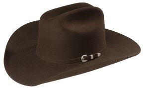 Sheplers Exclusive - Justin 4X Cody Fur Felt Western Hat, Brown, hi-res