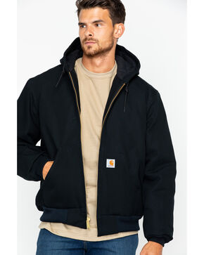 Carhartt Duck Active Work Jacket, Black, hi-res