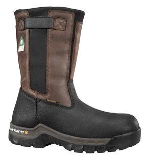 Carhartt Men's Insulated Wellington Boots - Steel Toe, Black, hi-res