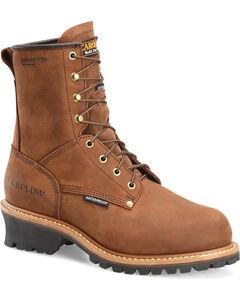 Carolina Men's Brown Waterproof Insulated Logger Boots - Steel Toe, , hi-res
