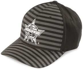 PBR Striped Flex Fit Cap, Black, hi-res
