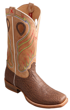 Twisted X Men's Crazy Horse Ruff Stock Cowboy Boots - Square Toe, Crazyhorse, hi-res