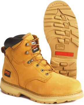 Timberland Men's Wheat PRO Pit Boss Work Boots - Round Toe , Wheat, hi-res