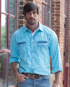 Ryan Michael Men's Tinted Indigo Shirt - Big and Tall , , hi-res