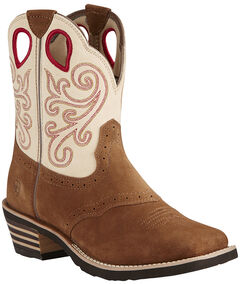 Ariat Fatbaby Toffee Riata Cowgirl Boots - Wide Square Toe, , hi-res