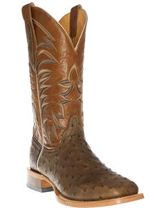 Cinch Men's Full Quill Ostrich Western Boots - Square Toe, , hi-res