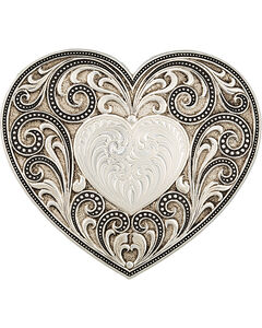 Montana Silversmiths Antiqued Heart Whispers Buckle, , hi-res
