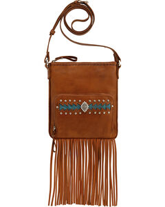 American West Moon Dancer Golden Tan Crossbody Bag, , hi-res