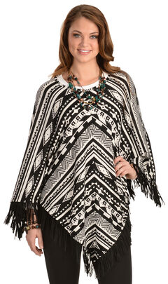 Cowgirl Justice Sonora Fringe Poncho, , hi-res