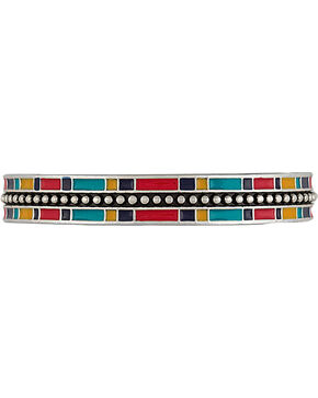 Wrangler Rock 47 by Montana Silversmiths Tribal Flair Cuff Bracelet, Multi, hi-res