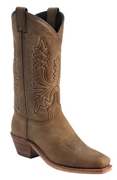 Abilene Oiled Cowhide Cowgirl Boots - Square Toe, , hi-res