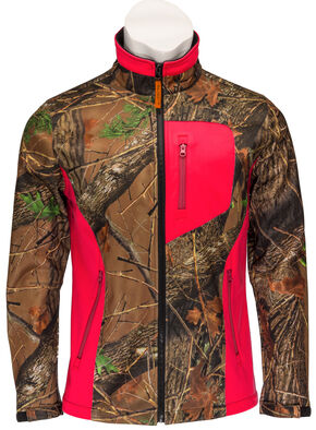 Trail Crest Women's Neon Coral Waterproof and Windproof Custom XRG Soft Shell Ja, Coral, hi-res