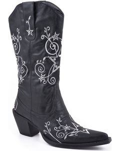 Roper Star Embroidered Cowgirl Boots - Pointed Toe, , hi-res
