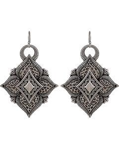 Wrangler Rock 47 Vintage Kitsch Diamond Flower Earrings, , hi-res