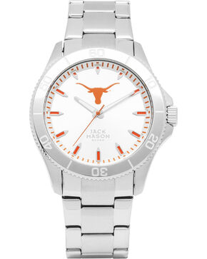 Jack Mason University of Texas Men's Silver Dial Sport Bracelet Watch , Silver, hi-res
