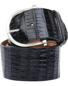 Lucchese Women's Black Ultra Belly Caiman Belt , , hi-res