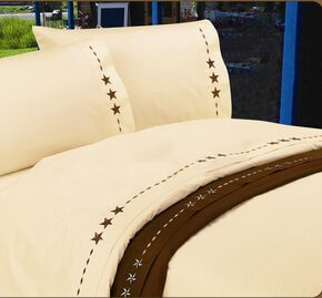 HiEnd Accents Star Sheet Set - King, Cream, hi-res