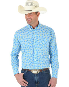 Wrangler George Strait One Pocket Paisley Poplin Shirt, , hi-res